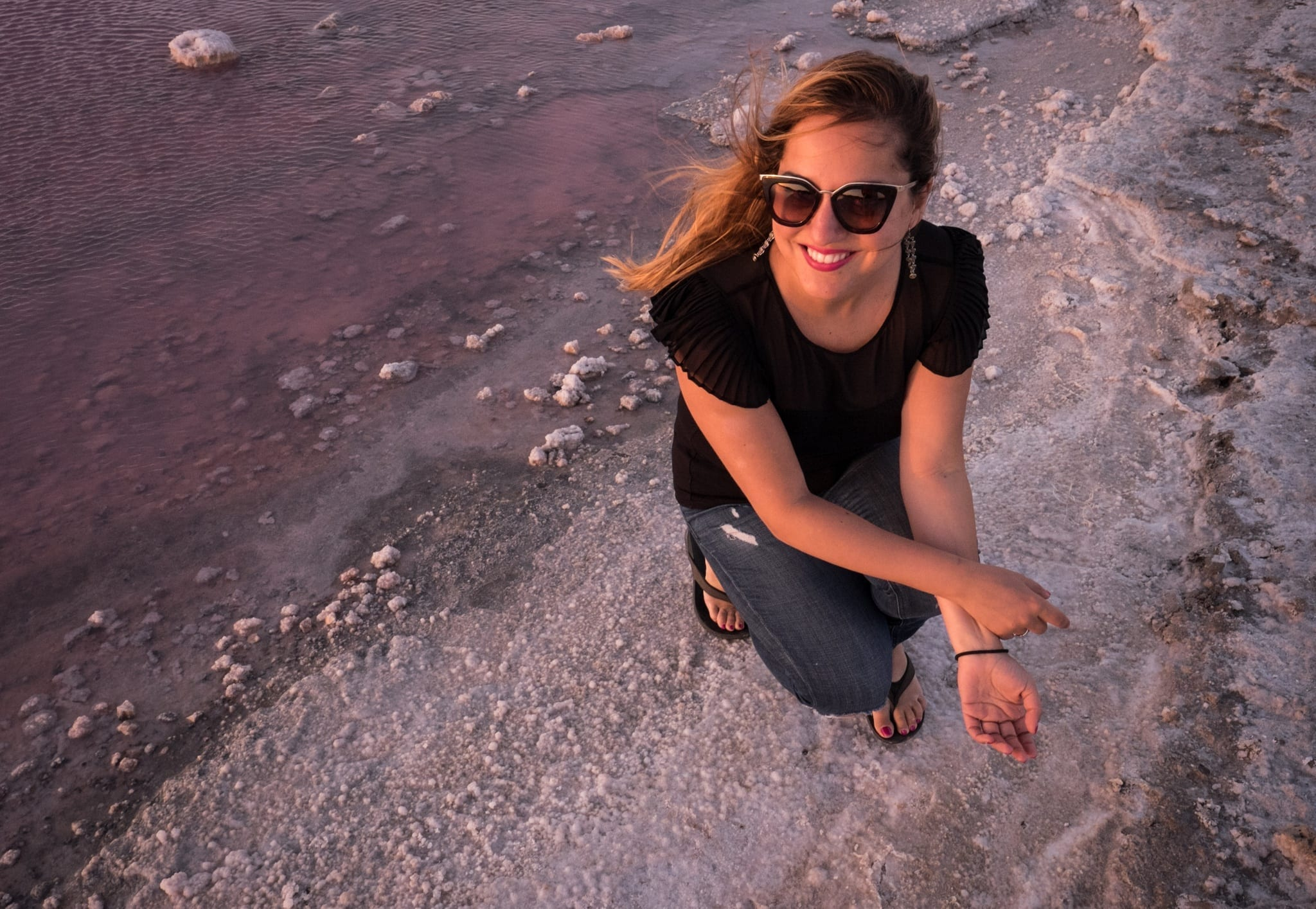Kate at Hutt Lagoon Pink Lake, Western Australia