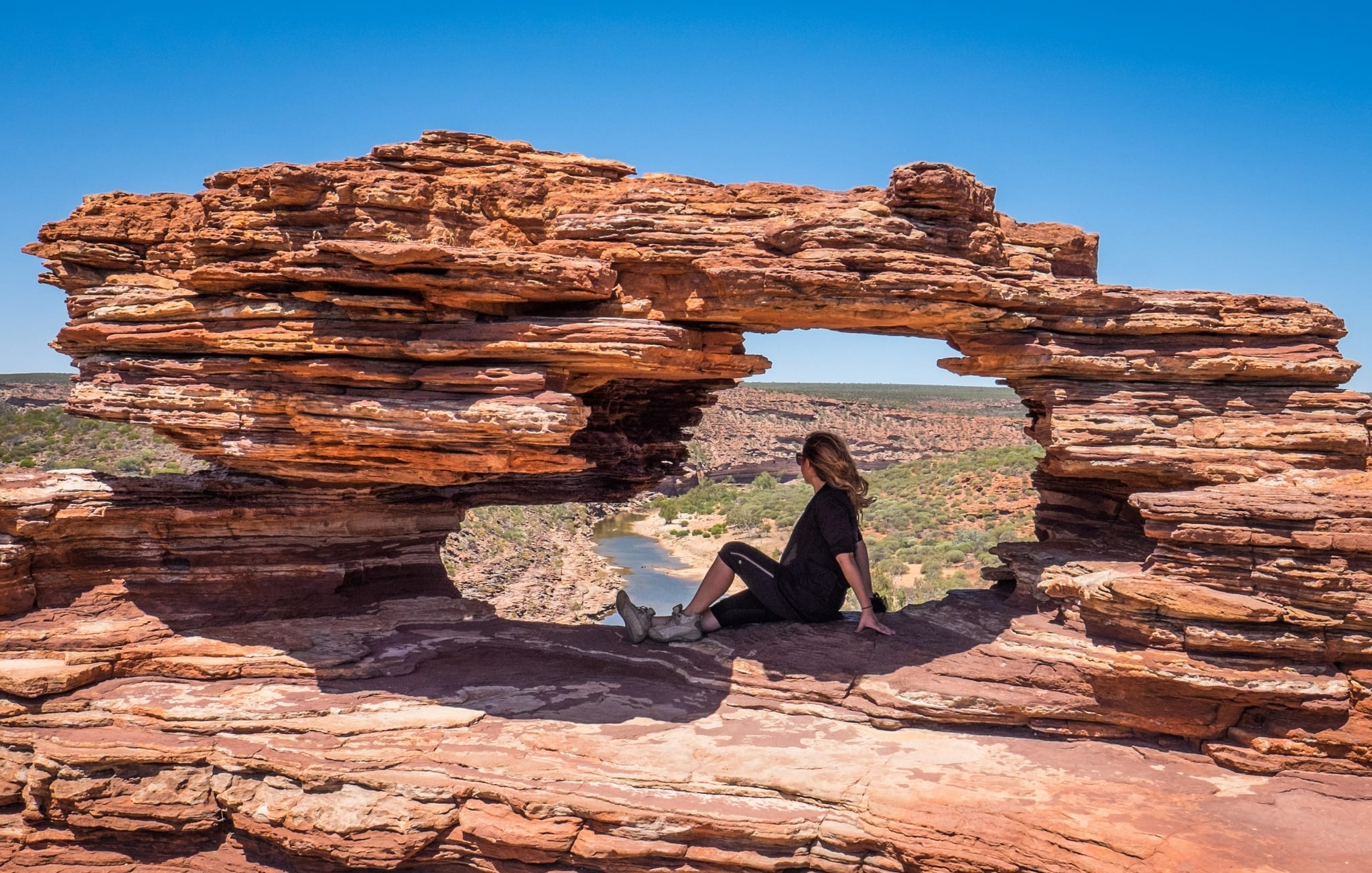 Kate at Nature's Window Kalbarri NP