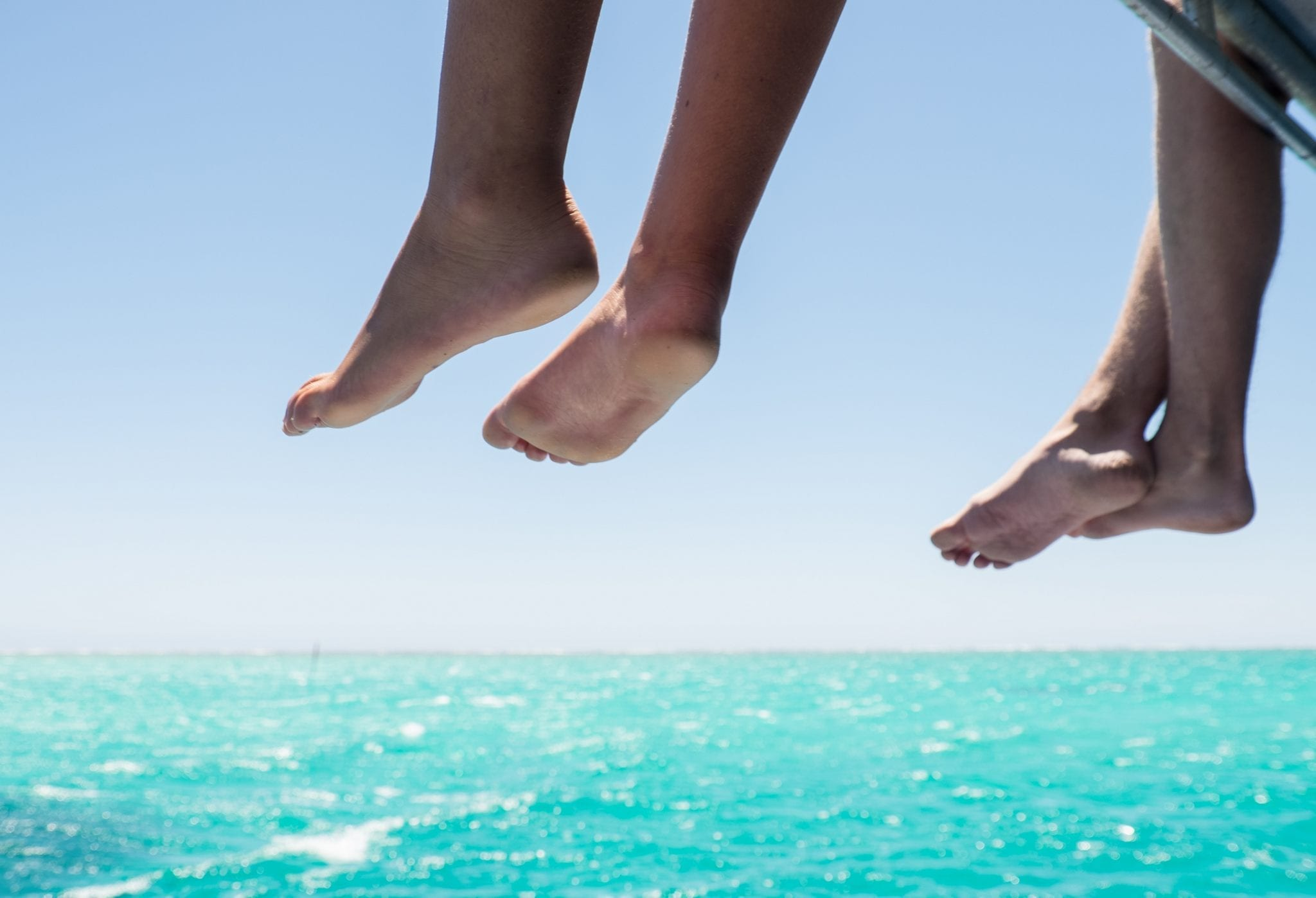 Feet in Coral Bay