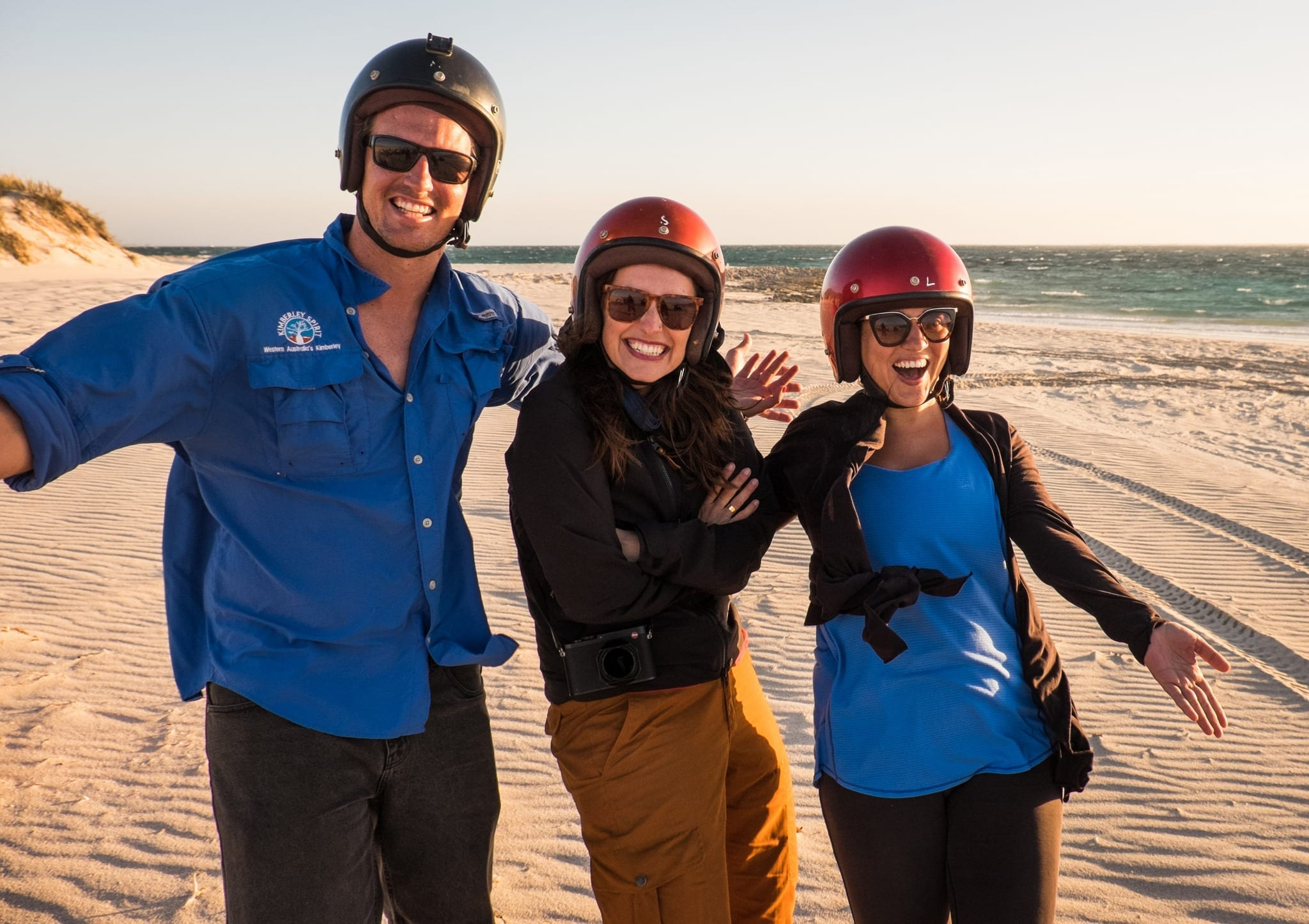 Scotty, Freedi and Kate Quad Biking Coral Bay WA