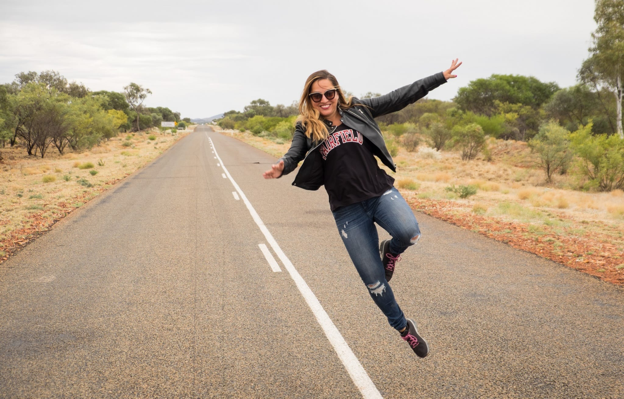 Kate flying in WA