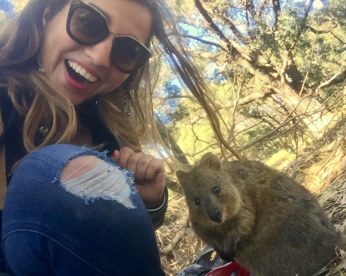 Kate with Quokka