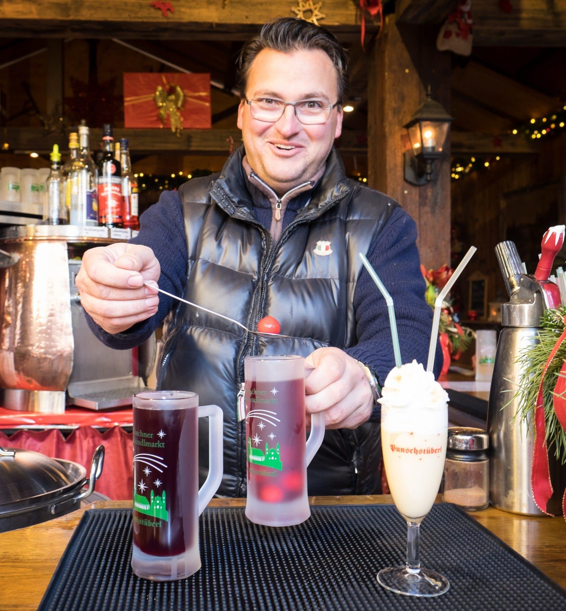 Gluhwein Man Christmas in Bavaria