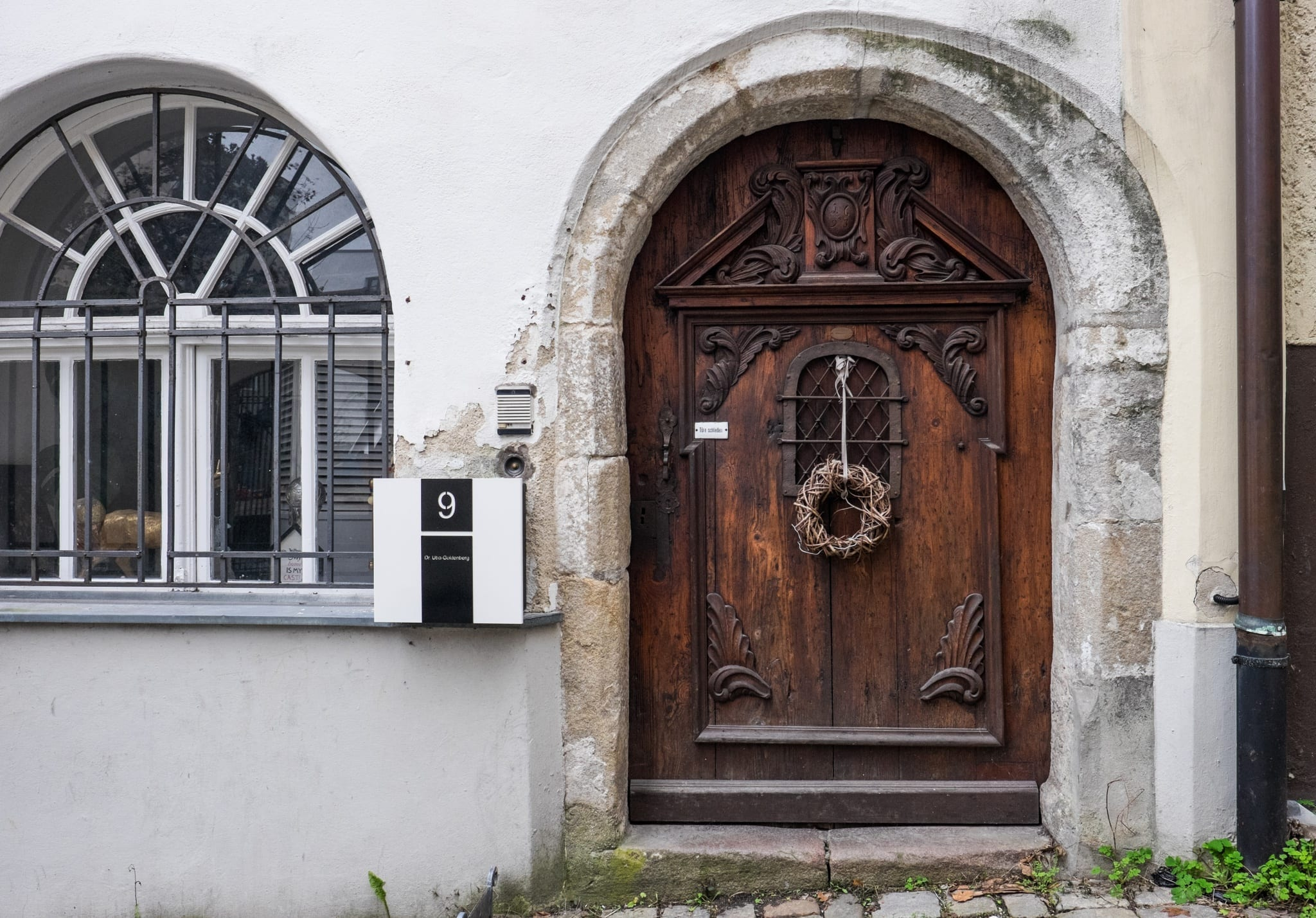 Plague Door Passau Christmas in Bavaria