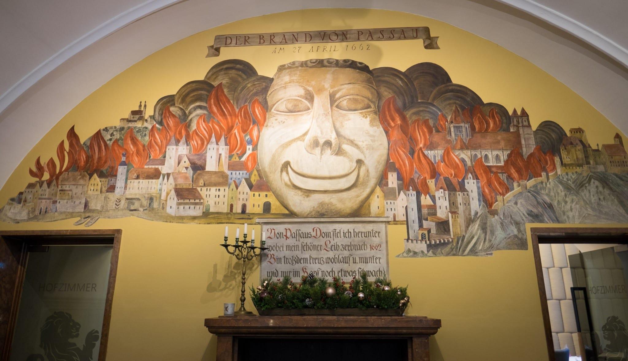 Passau Fire Christmas in Bavaria