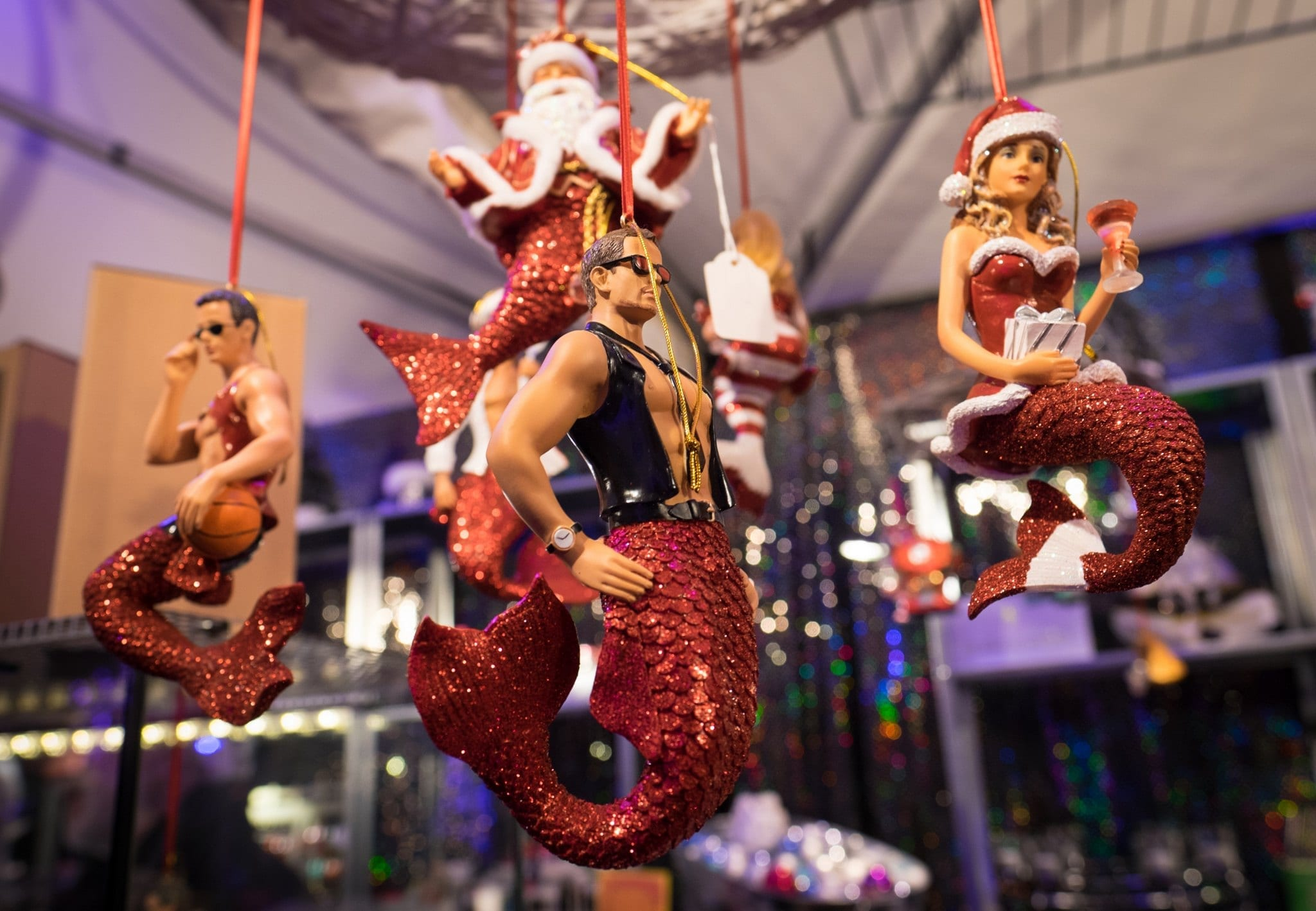 Sexy Mermen Ornaments Christmas in Bavaria