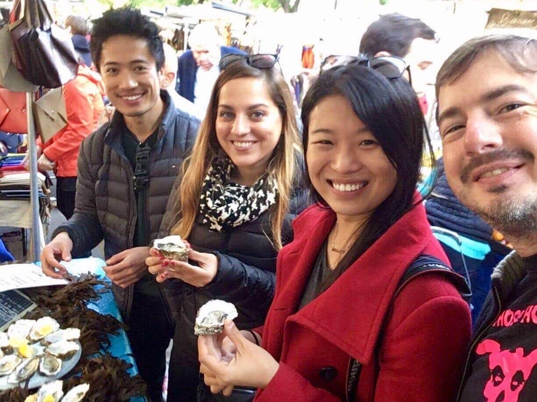 Jiyang, Kate, Edna and Joe in Paris