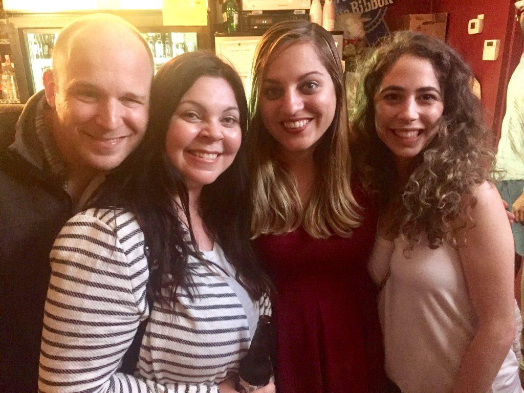 Kate poses with three of her readers in Savannah, Georgia.