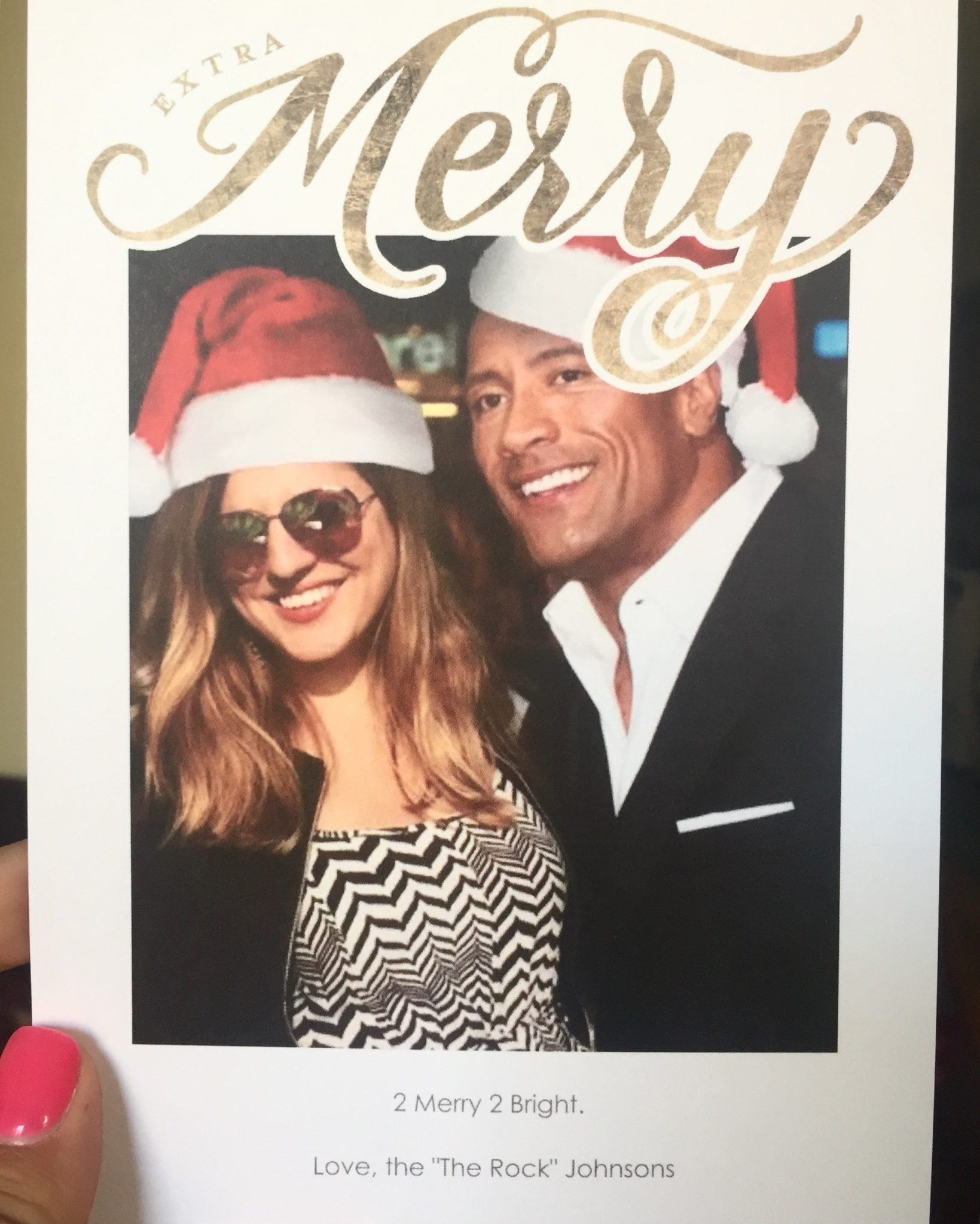 Kate and the Rock Christmas Card