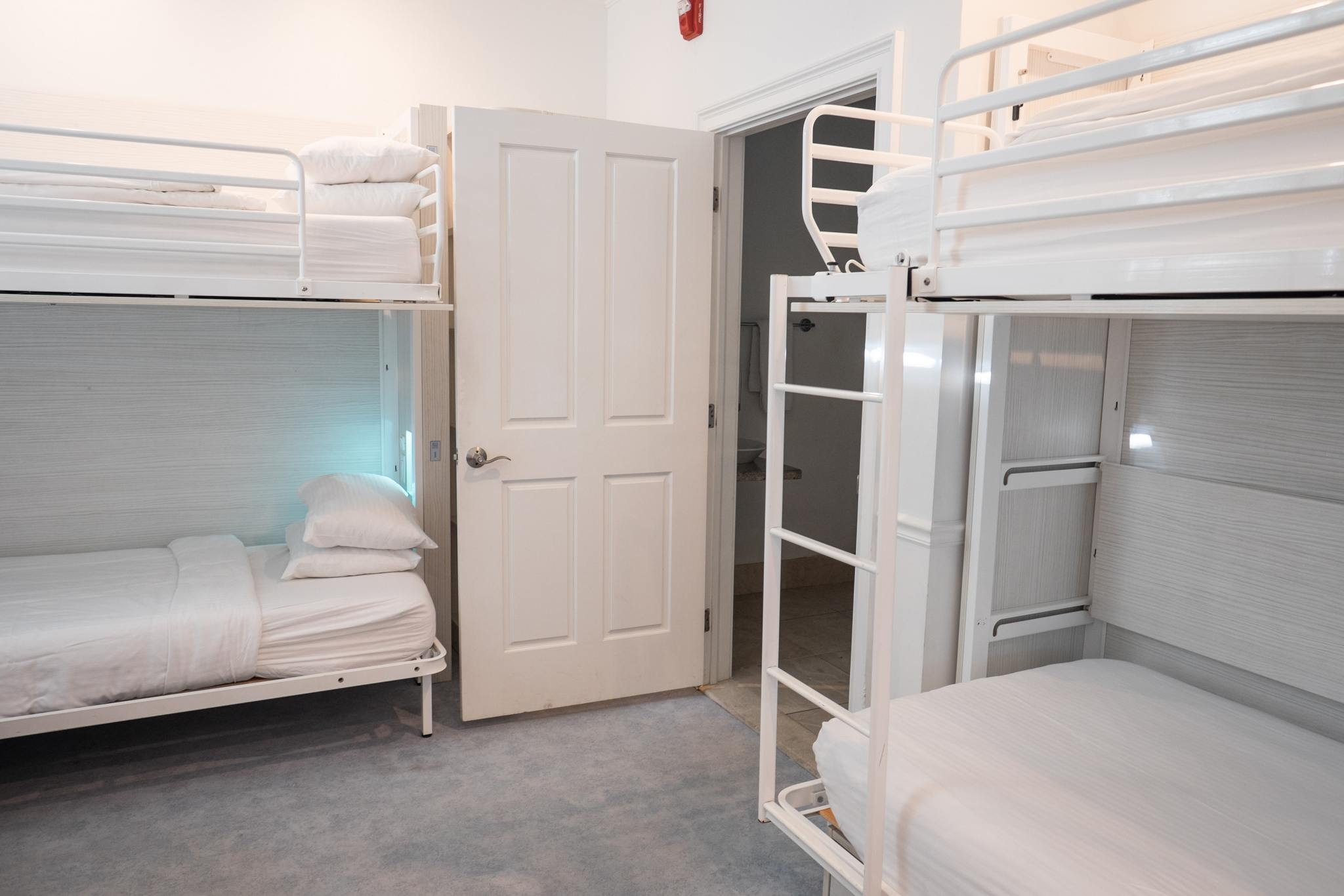 Luxury Many of the private rooms are set up dorm style with up to three sets of bunk beds and an ensuite bathroom The rooms are customized and beds can be