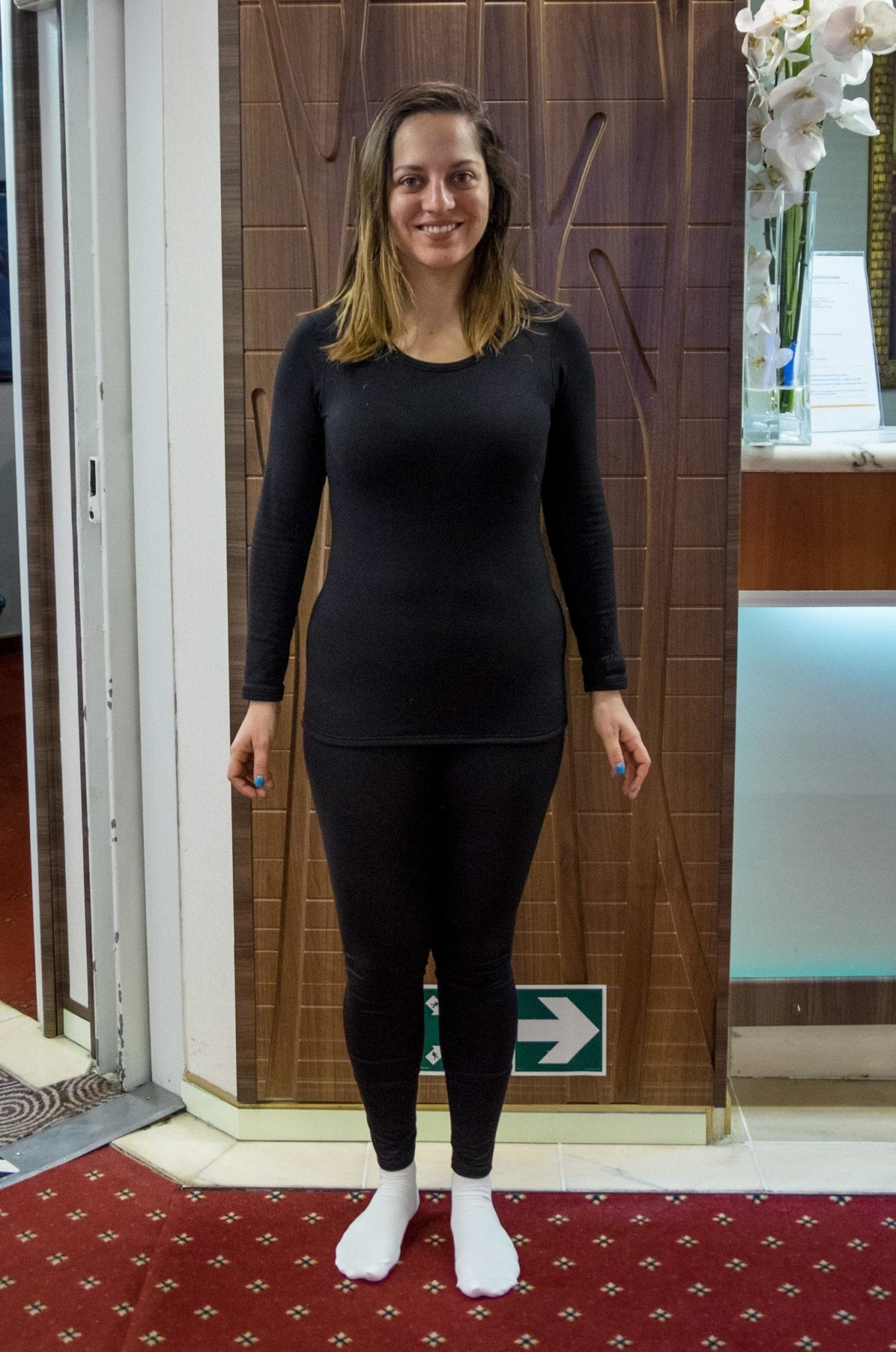 a51433f9979071 BASE LAYER: On top of my underwear and bra, I wore a Uniqlo Warmest Base  Layer top, Uniqlo Warmest Base Layer leggings, and Fox River sock liners.