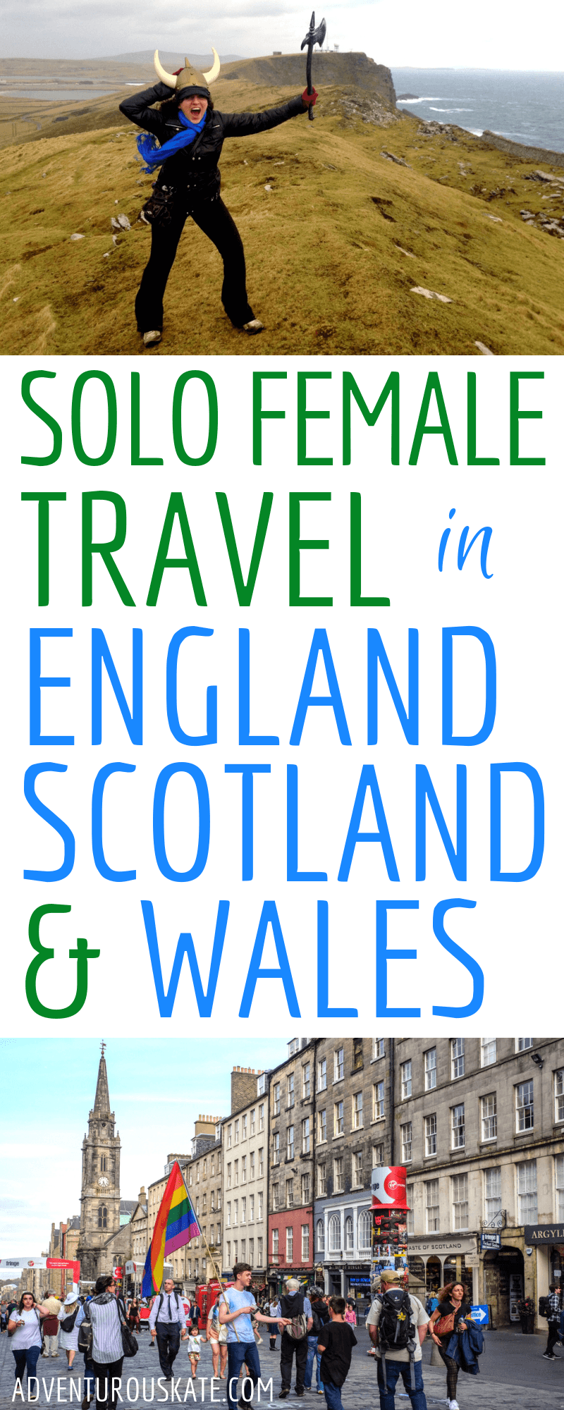 Solo Female Travel in England, Scotland, and Wales - A UK