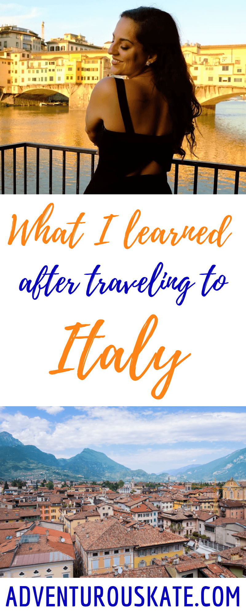 11 Things I Learned in Italy -- Pinterest Graphic
