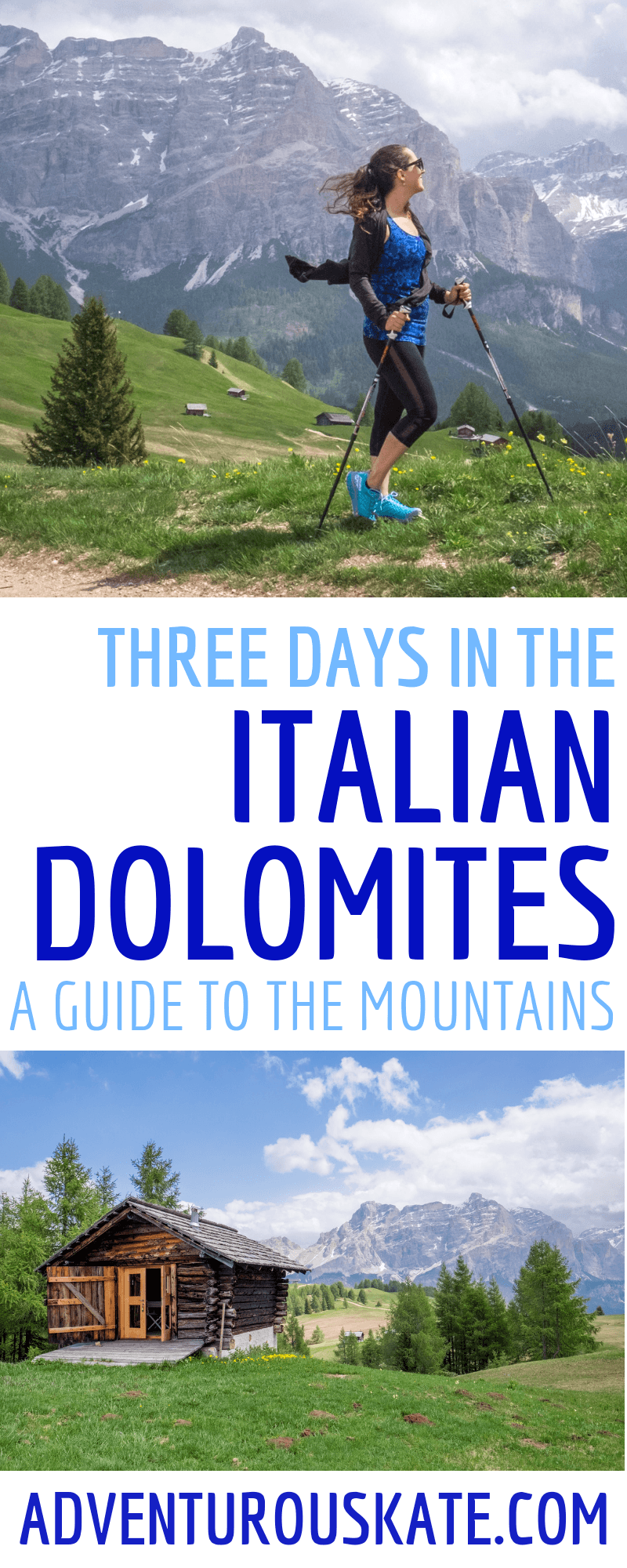 Three Days in the Italian Dolomites (Pinterest Graphic)