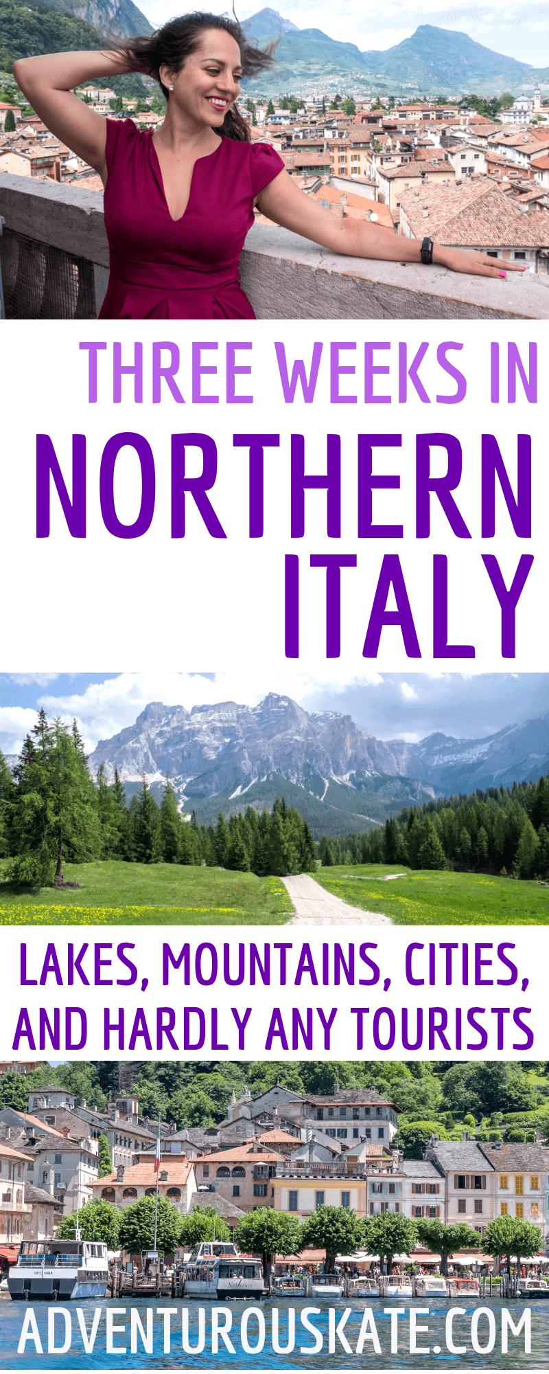 Three Weeks in Northern Italy Itinerary (Pinterest graphic)