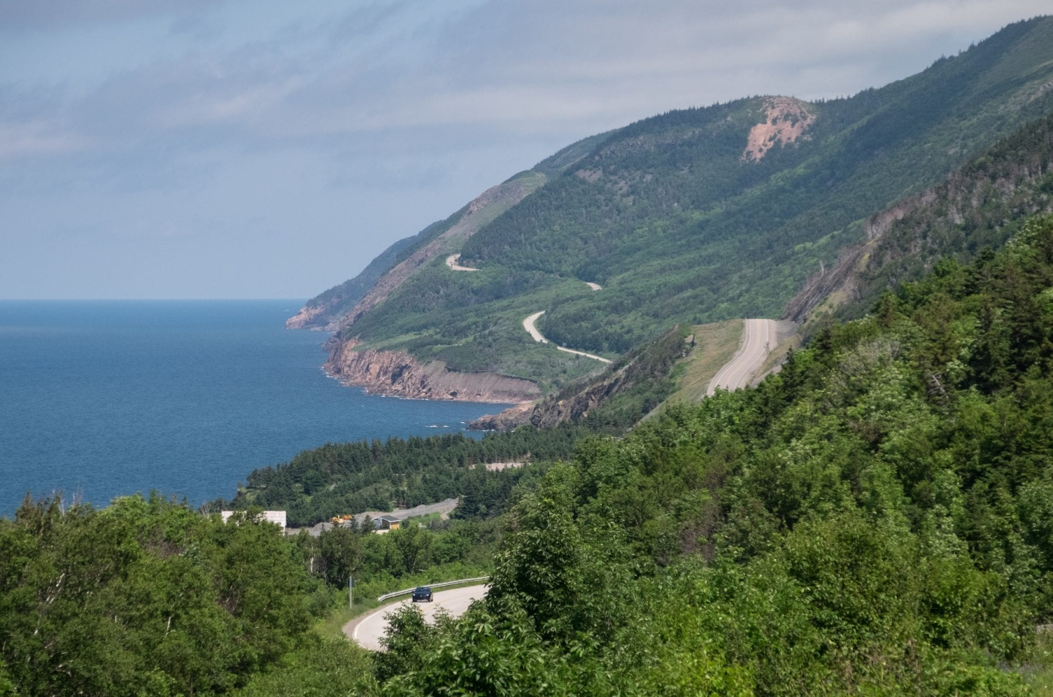 The mountains and winding roads of Cape Breton Highlands National Park.