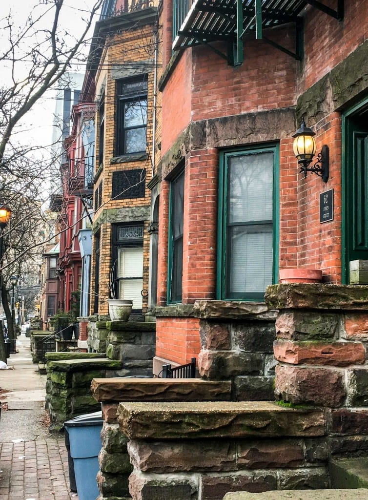 Beautiful brownstones in Newark, New Jersey.